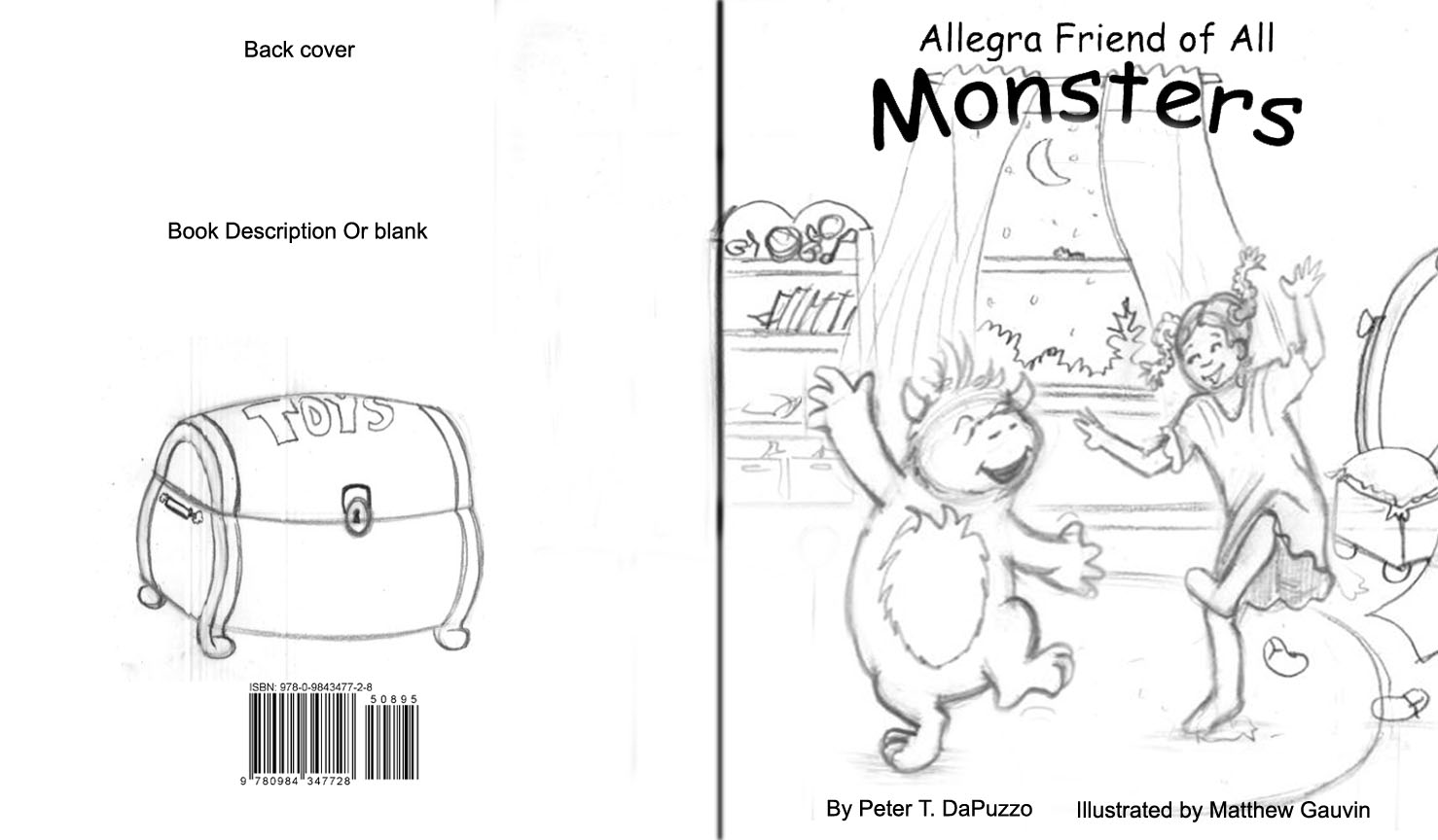 Illustrated Children S Book Covers ~ Mg children s book illustrations monster book cover design two