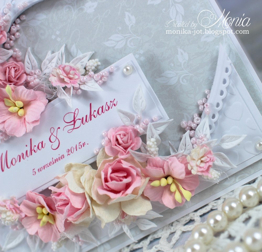 How to scrapbook wedding cards - Today I Have For You A Wedding Card With Lots Of Wild Orchid Crafts Flowers