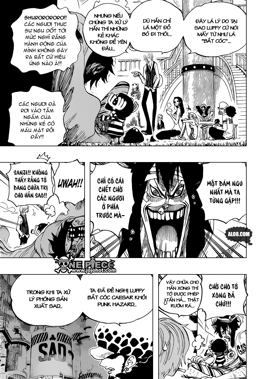 One Piece Chapter 698: Doflamingo xuất hiện 013