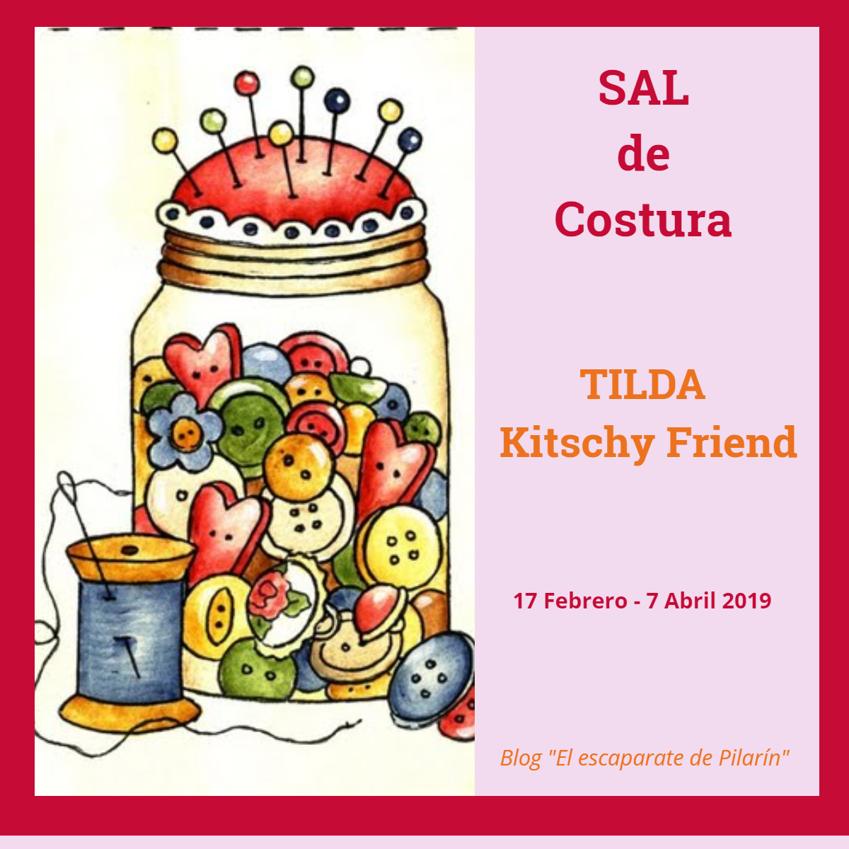SAL de COSTURA - TILDA Kitschy Friend