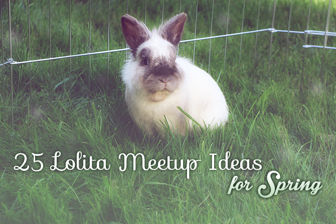 lolita meetup ideas spring rabbit bunny
