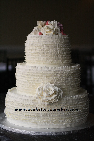 Ruffle Wedding Cake Tutorial