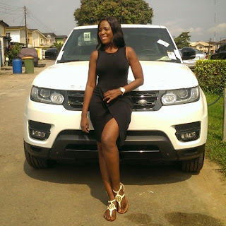 No money is sweeter than your own money - Top Blogger Linda Ikeji as she acquires 2014 Range Rover Sports