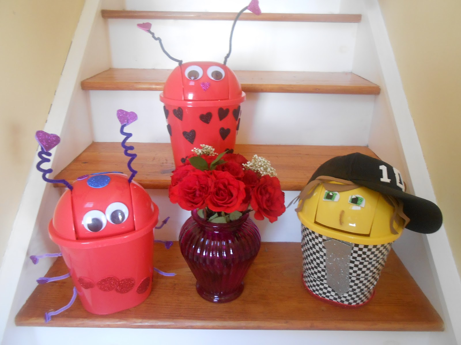 Garbage Can Valentine Boxes