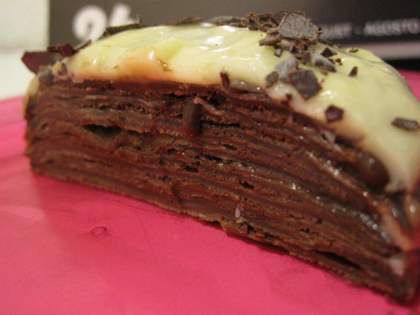 gourmandises homecooked dessert g 226 teau de cr 234 pes cacao au chocolat noir croustillant de