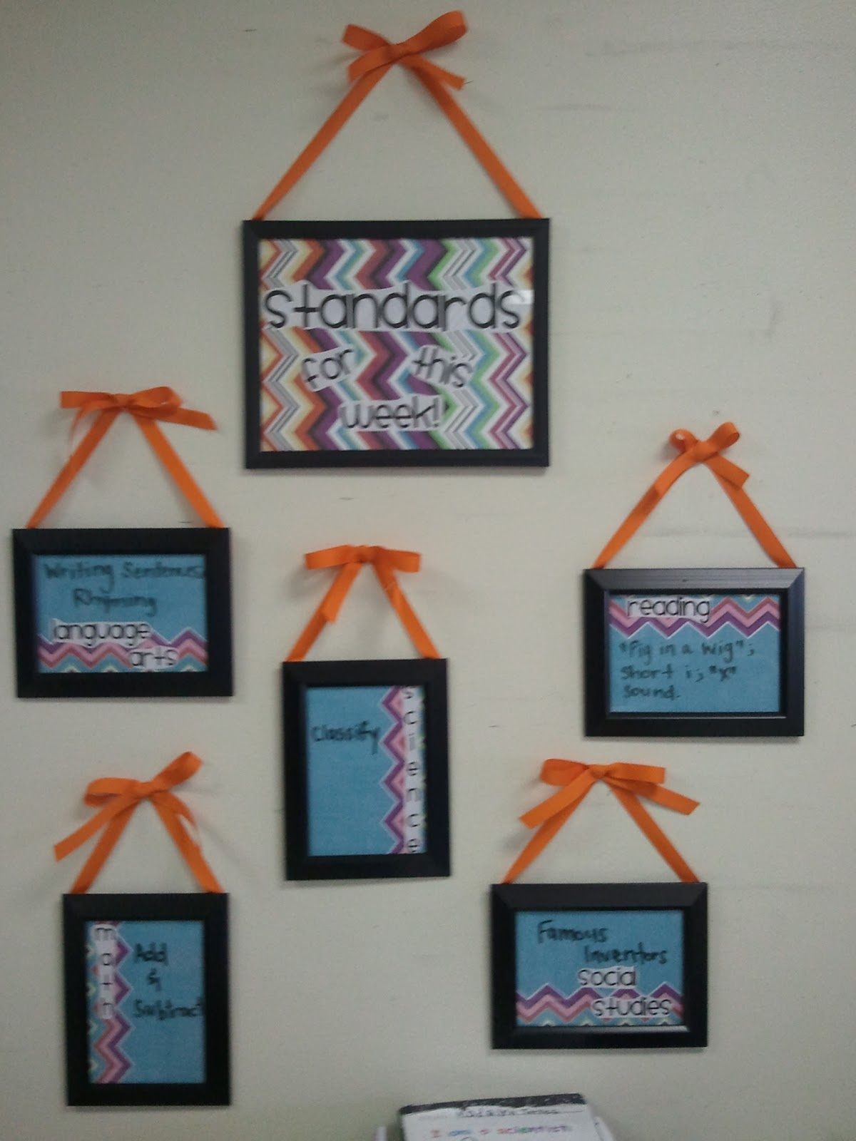 Wicked fun in first grade two posts in one week what 39 s for Room decor ideas for high school