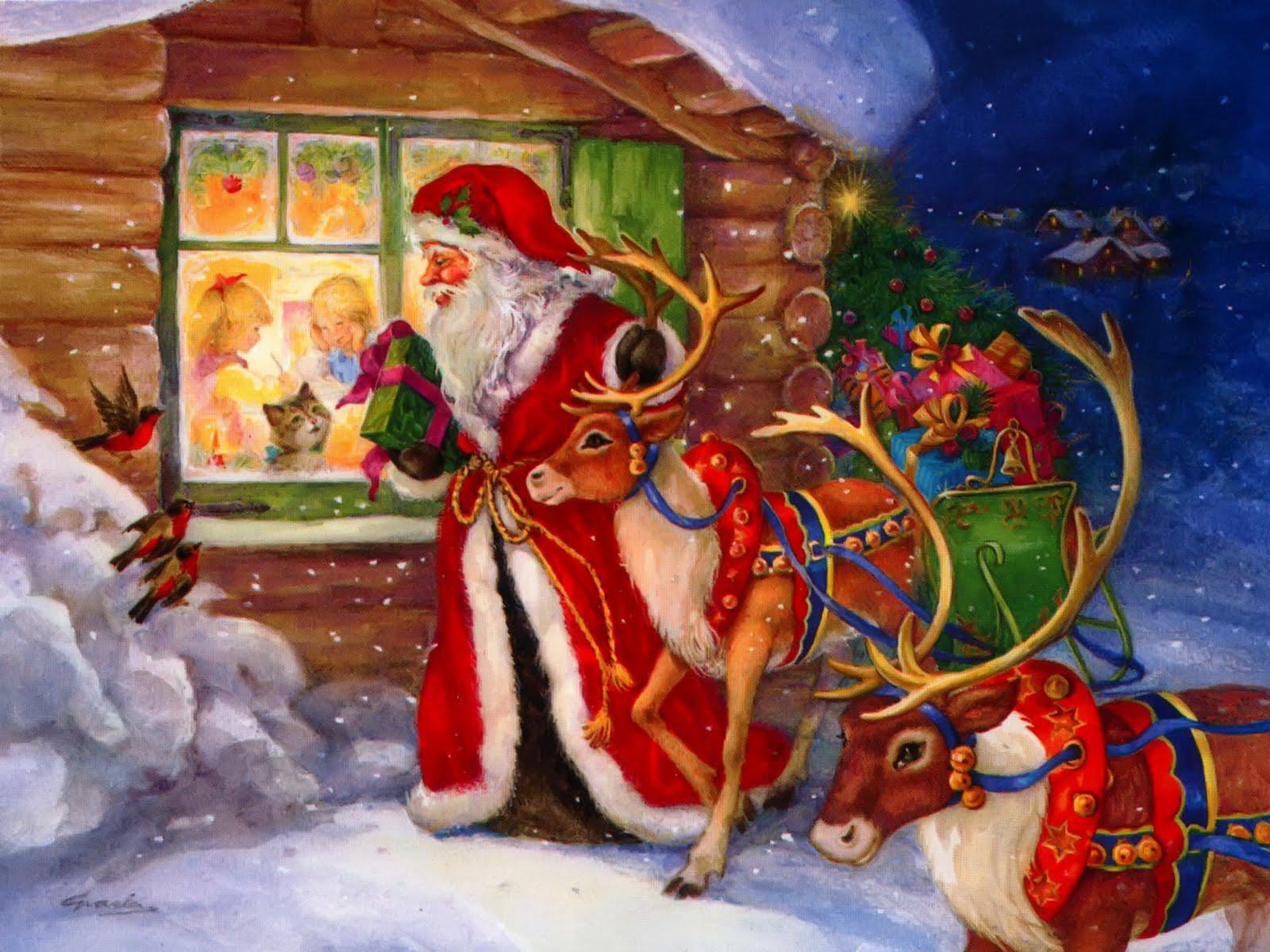 computer wallpaper santa claus face - photo #47
