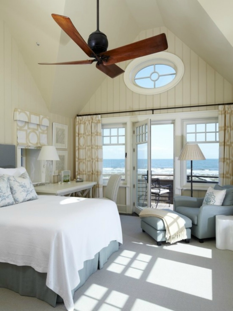 Coastal bedroom with ocean view