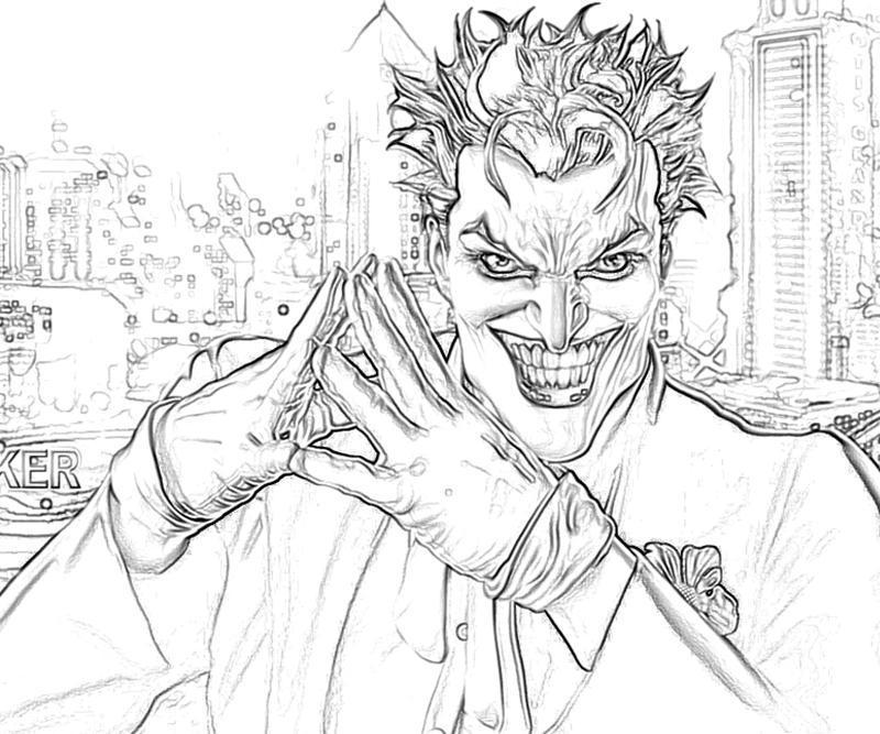 Batman Arkham City Joker Sketch Yumiko Fujiwara