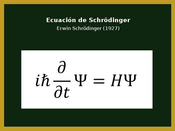 Ecuación de Schödinger