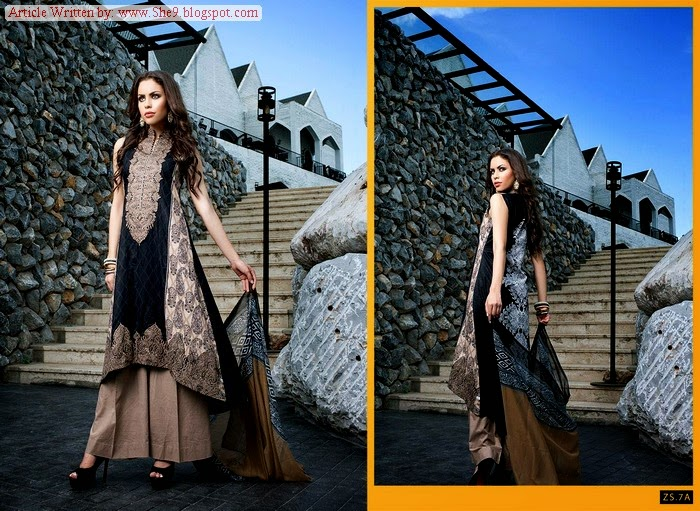 Kalyan Eid Dress Collection 2014-2015 By ZS Textiles