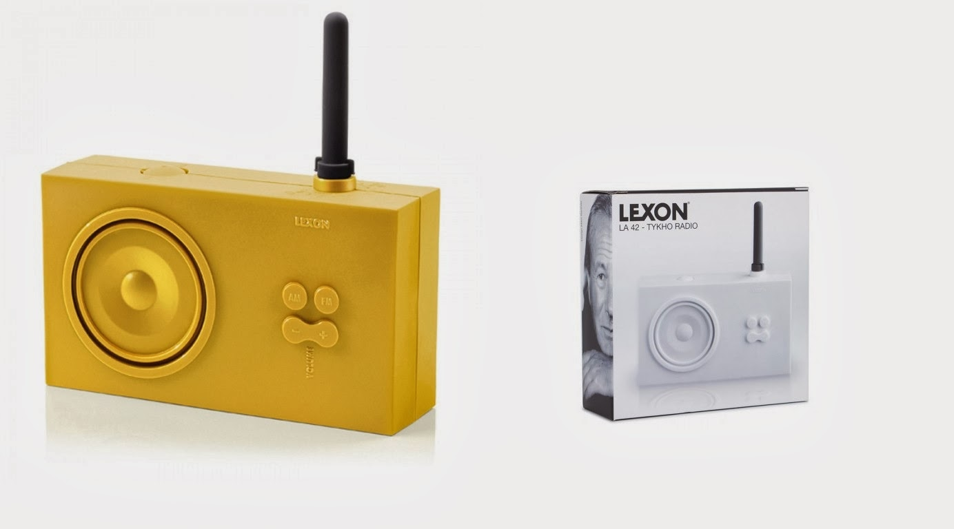 Yellow Tyko Bathroom Radio By Lexon