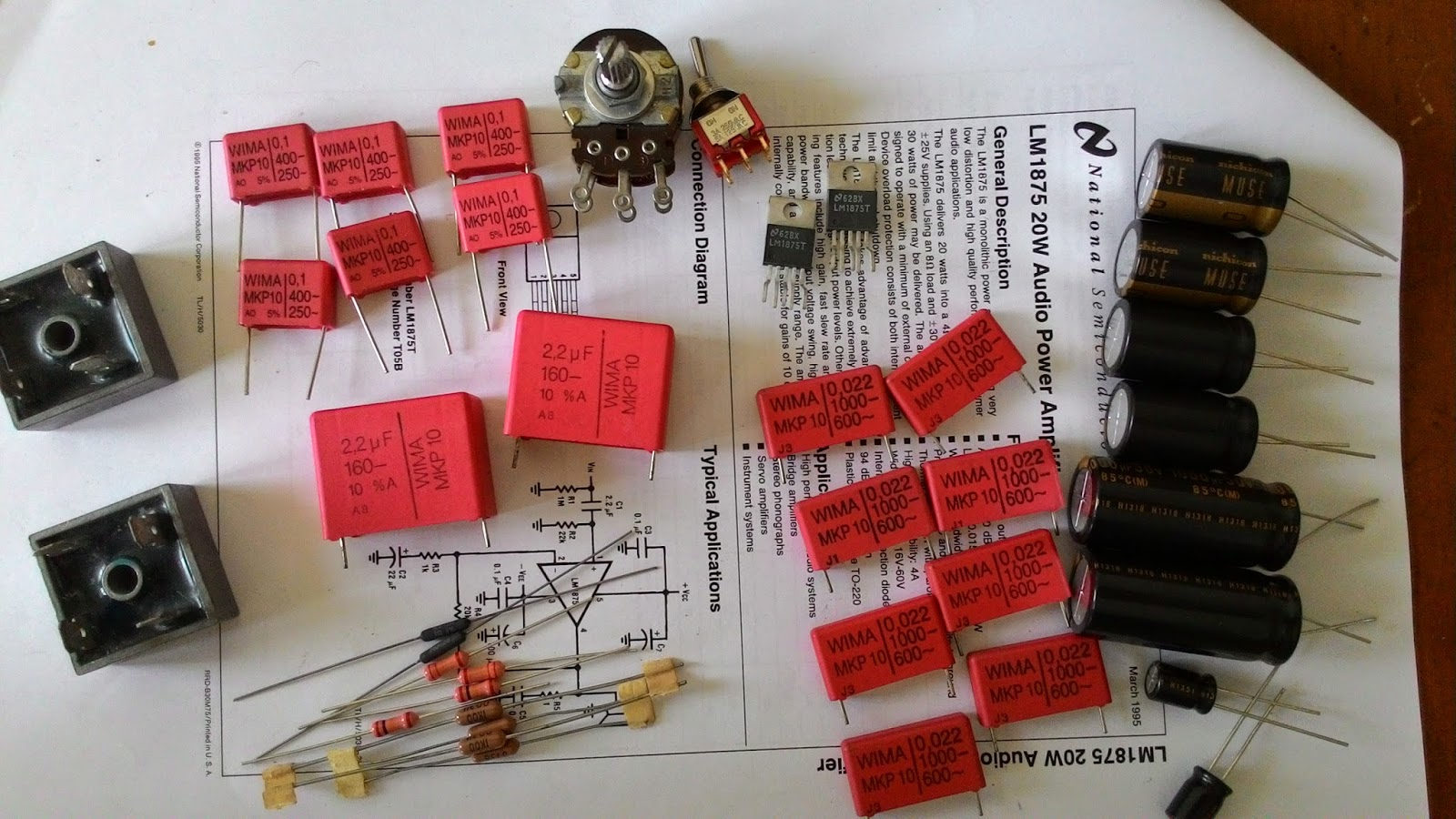 The Orronoco Audio Diy Gainclone Building Thread Part 1 How To Place A Coupling Capacitor In Circuit Input Are Wima Mkp 10 This New Old Stock Is Huge You Can Compare Size At Same Value
