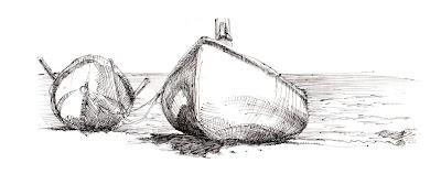 dessin canots (bateaux)
