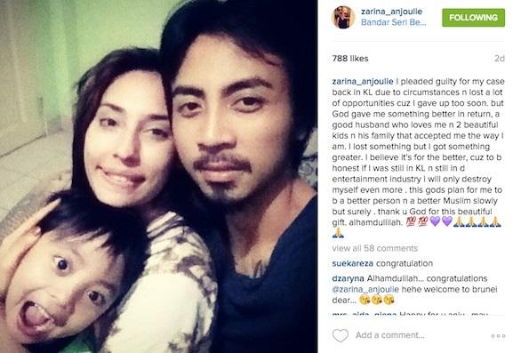 Instagram Zarina Anjoulie
