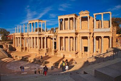 The Merida Roman theatre, near Badajoz