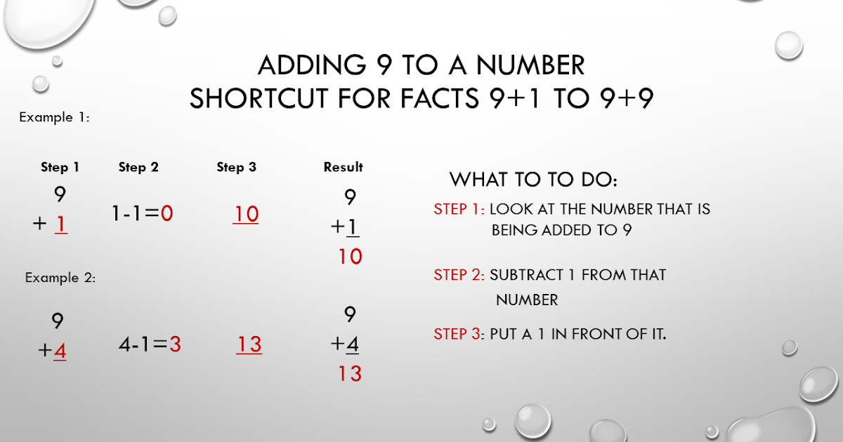 Adding 9 to a Number Math Fact Trick TJ Homeschooling – Superkids Math Worksheet Addition