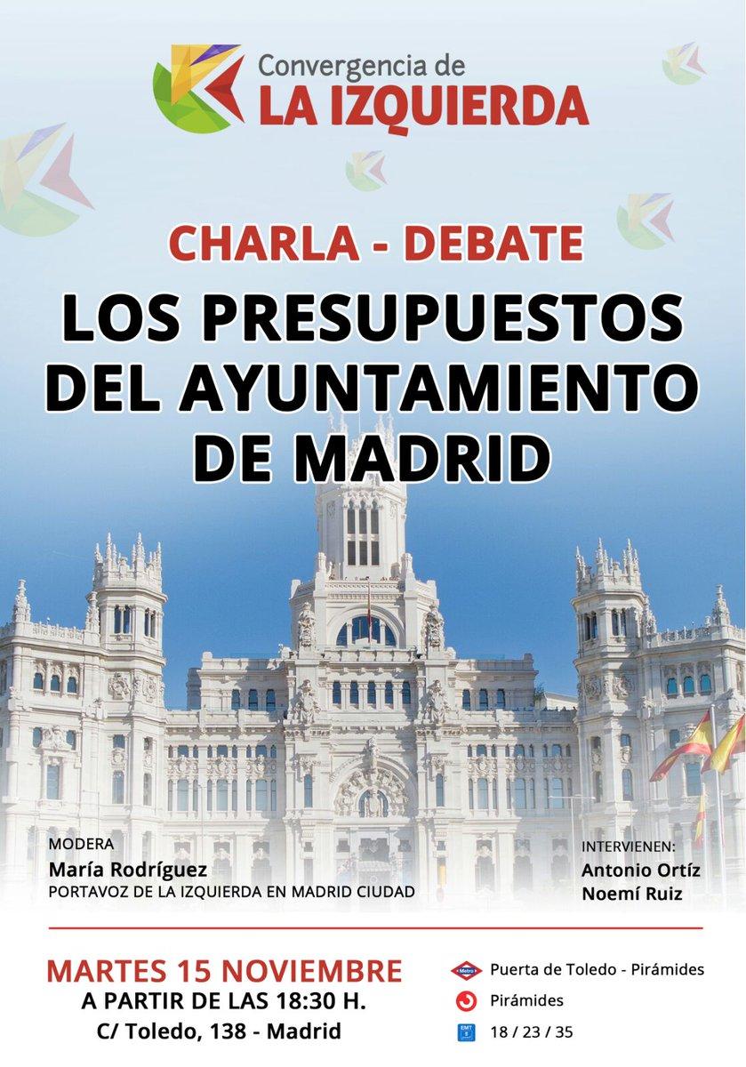 15 noviembre Debate Los Presupuestos de Madrid