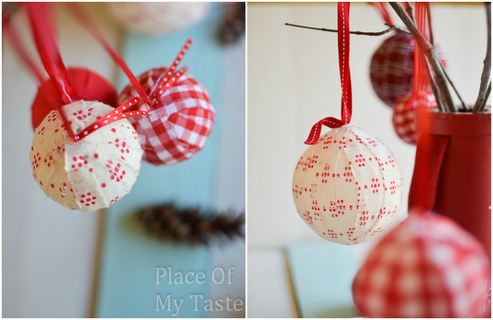 fabric ornaments diy fabric ornaments
