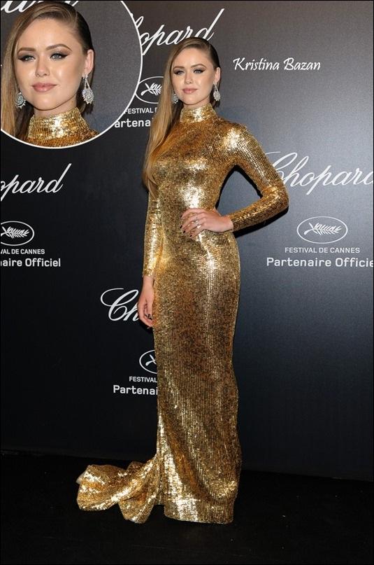Kristina Bazan's Golden Gown