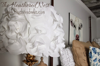 diy fabric flowered lampshade