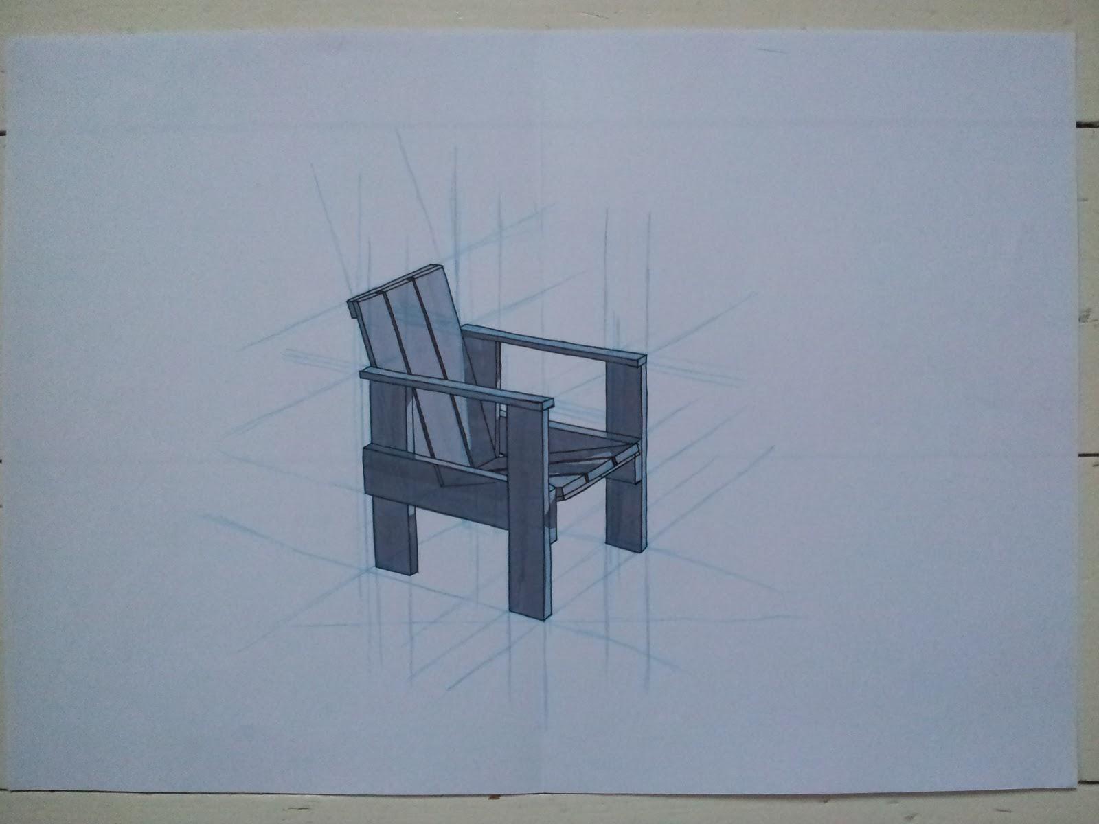 Gerrit Rietveld Kratstoel : L peene blok opdracht handtekenen kratstoel