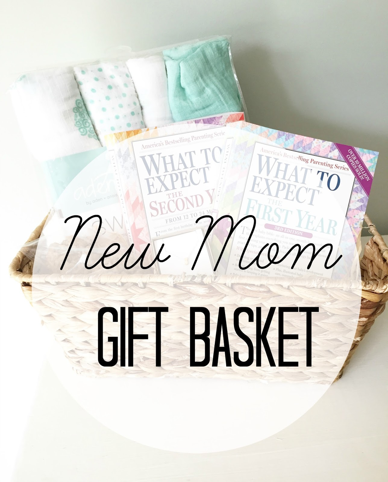 New Mom Gift Basket | The Girl in the Red Shoes