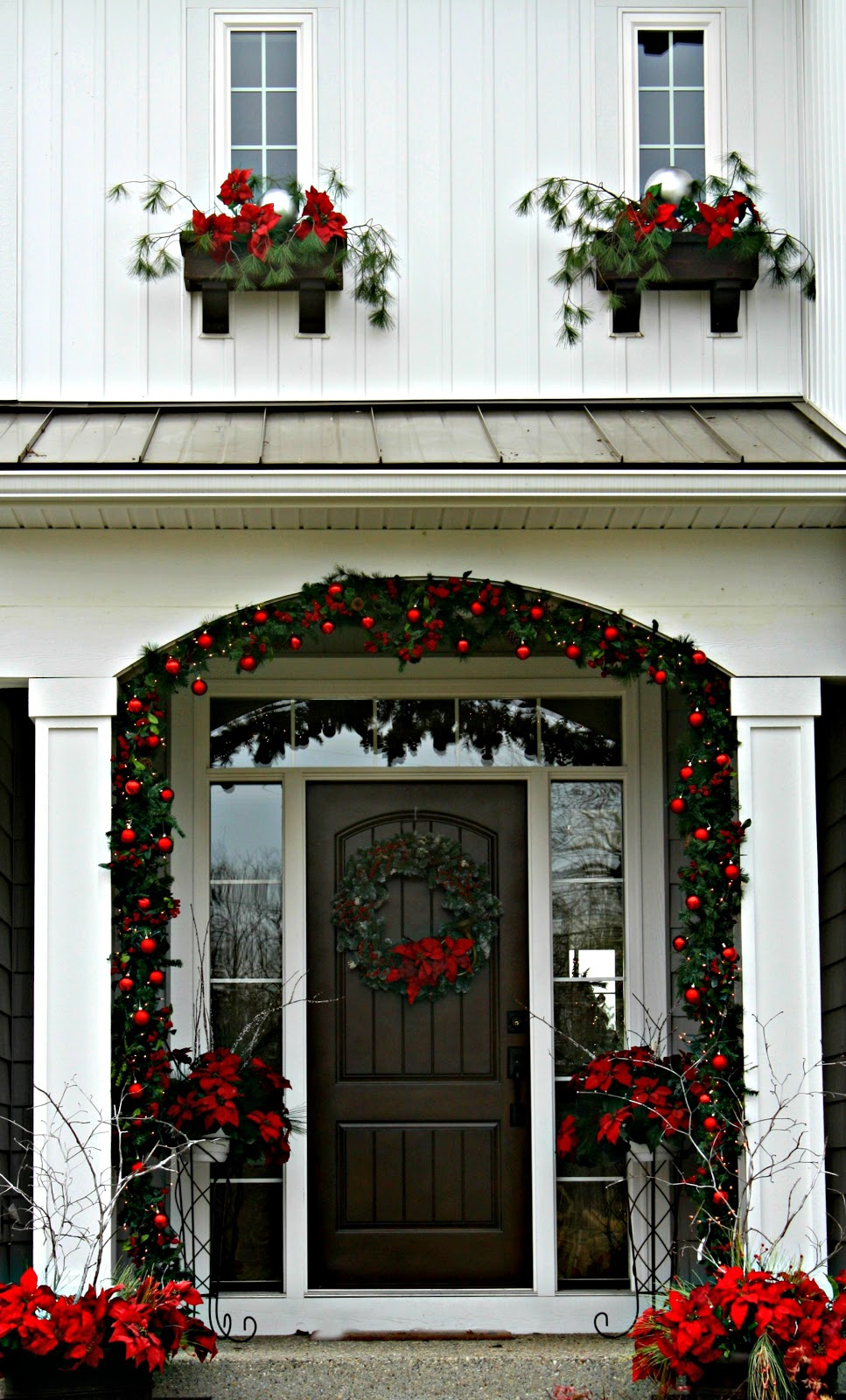 Christmas Front Door The Lilypad Cottage