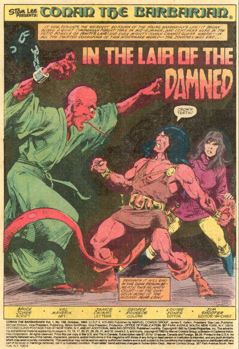 Conan the Barbarian (1970) Issue #139 #151 - English 2