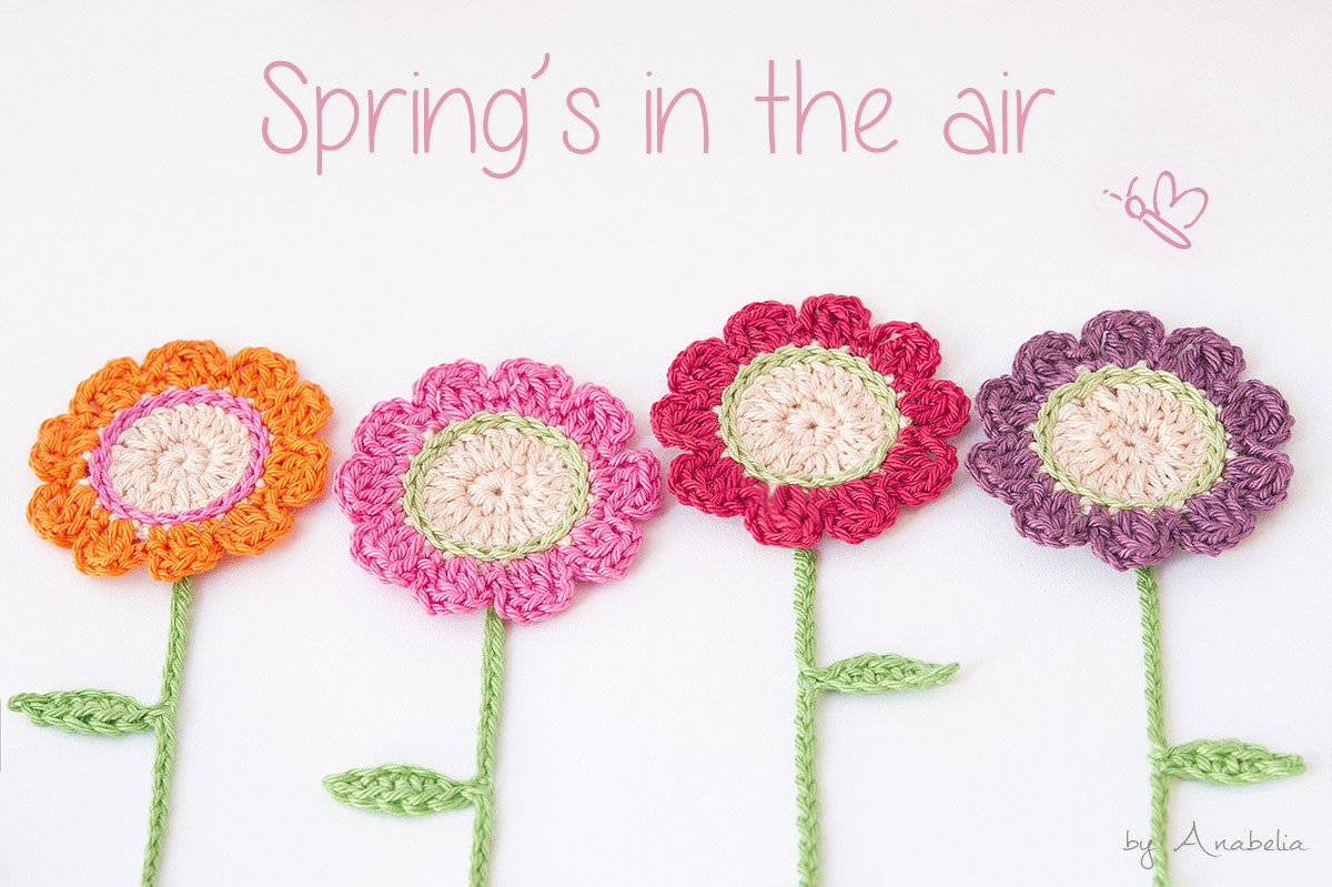 Crocheting flowers for new DIY spring projects | Anabelia Craft ...