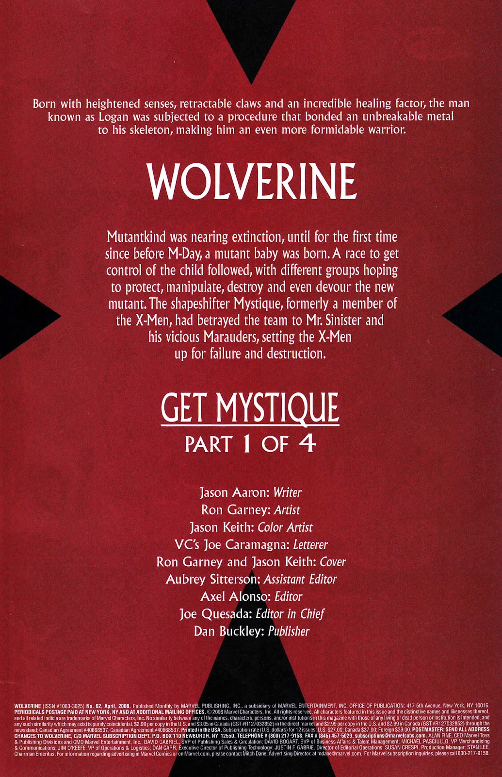 Read online Wolverine (2003) comic -  Issue #62 - 2