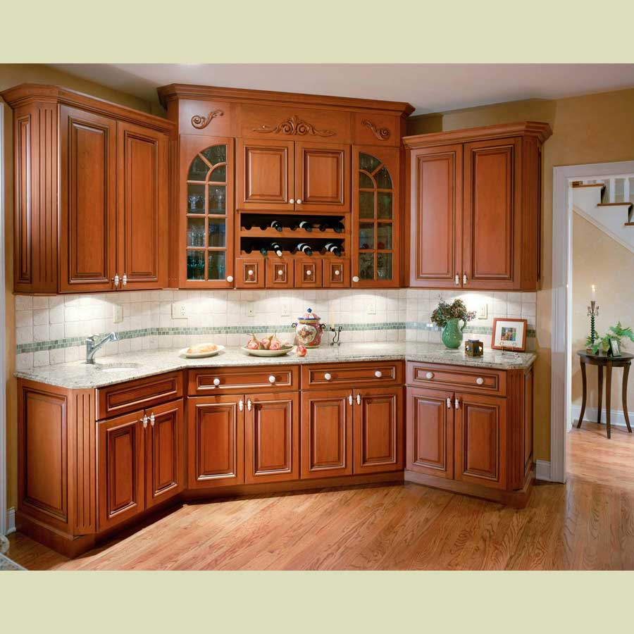 Kitchen cabinets for Kitchen cabinet wood colors