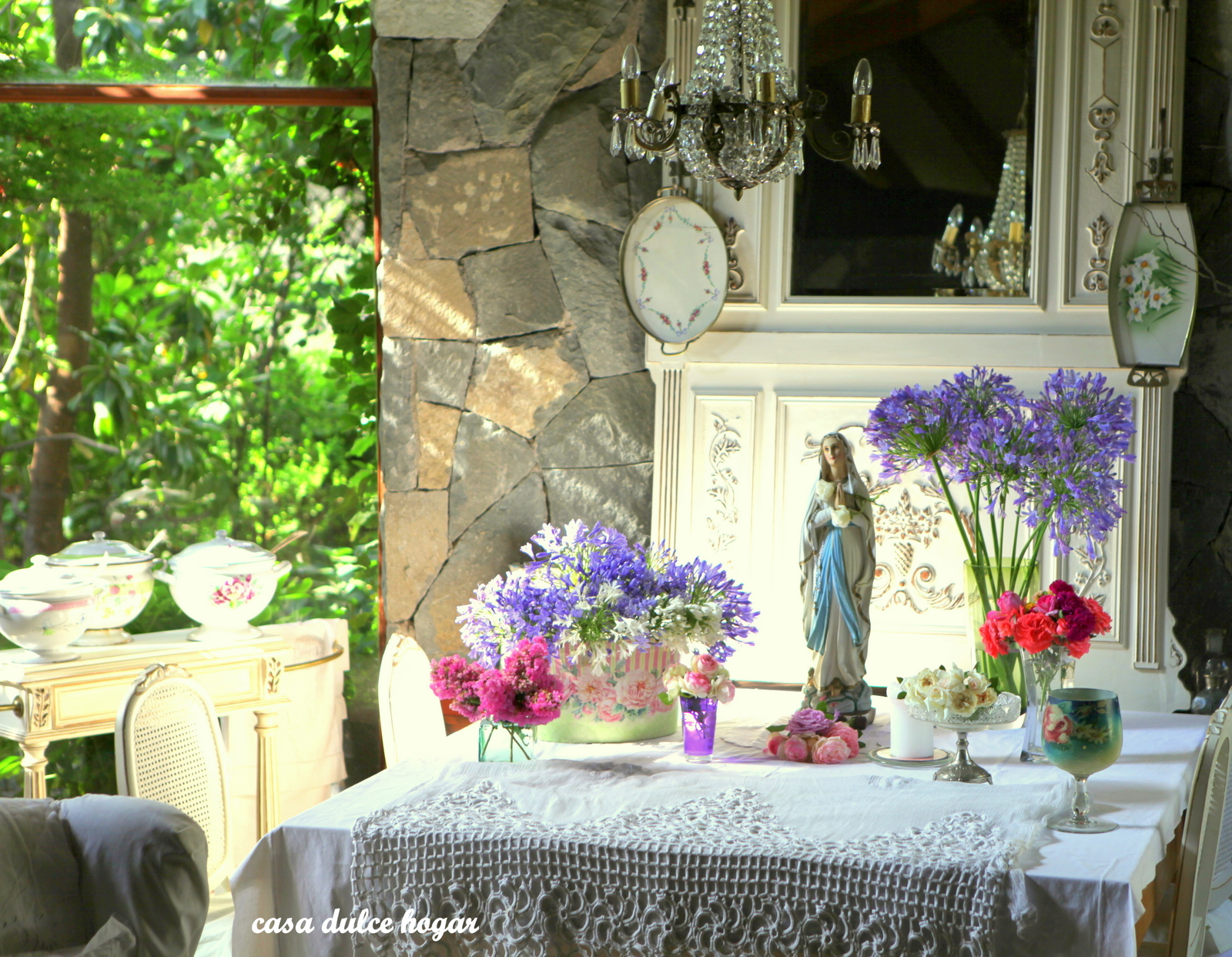 Casa dulce hogar flores de mi jard n en mi altar for Casa hogar jardin