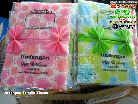 Undangan Tempat Tissue Kain Spunbond Yogyakarta