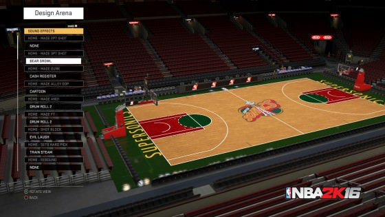 NBA 2k16 MyTeam Arena Design