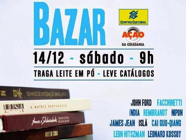 Bazar do Centro Cultural do Banco do Brasil e Ação da Cidadania
