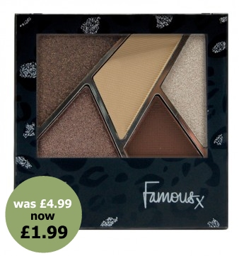 famous cosmetics sue moxley bargain discount promotion