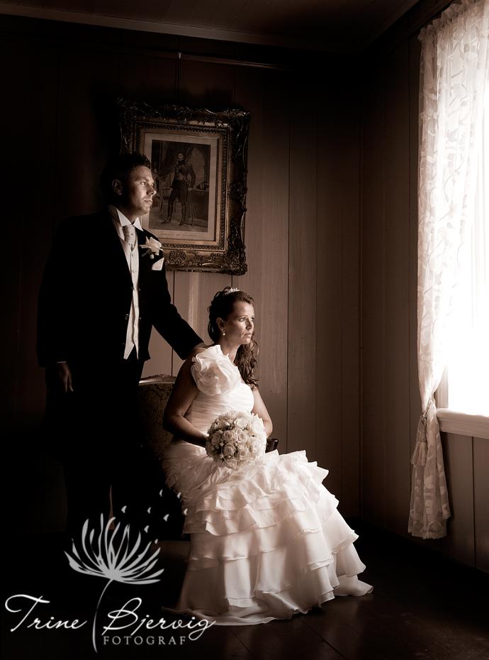 Bryllupsfotografering på Eidsfoss hovedgård, Fotograf Trine Bjervig