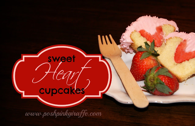 Sweet {Heart} Cupcakes from Posh Pink Giraffe