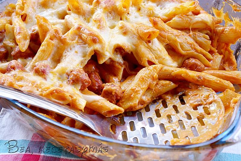 Recetas De Cocina Macarrones | Macarrones Con Tomate Suave Y Salchichas Rojas Al Horno Recetas De