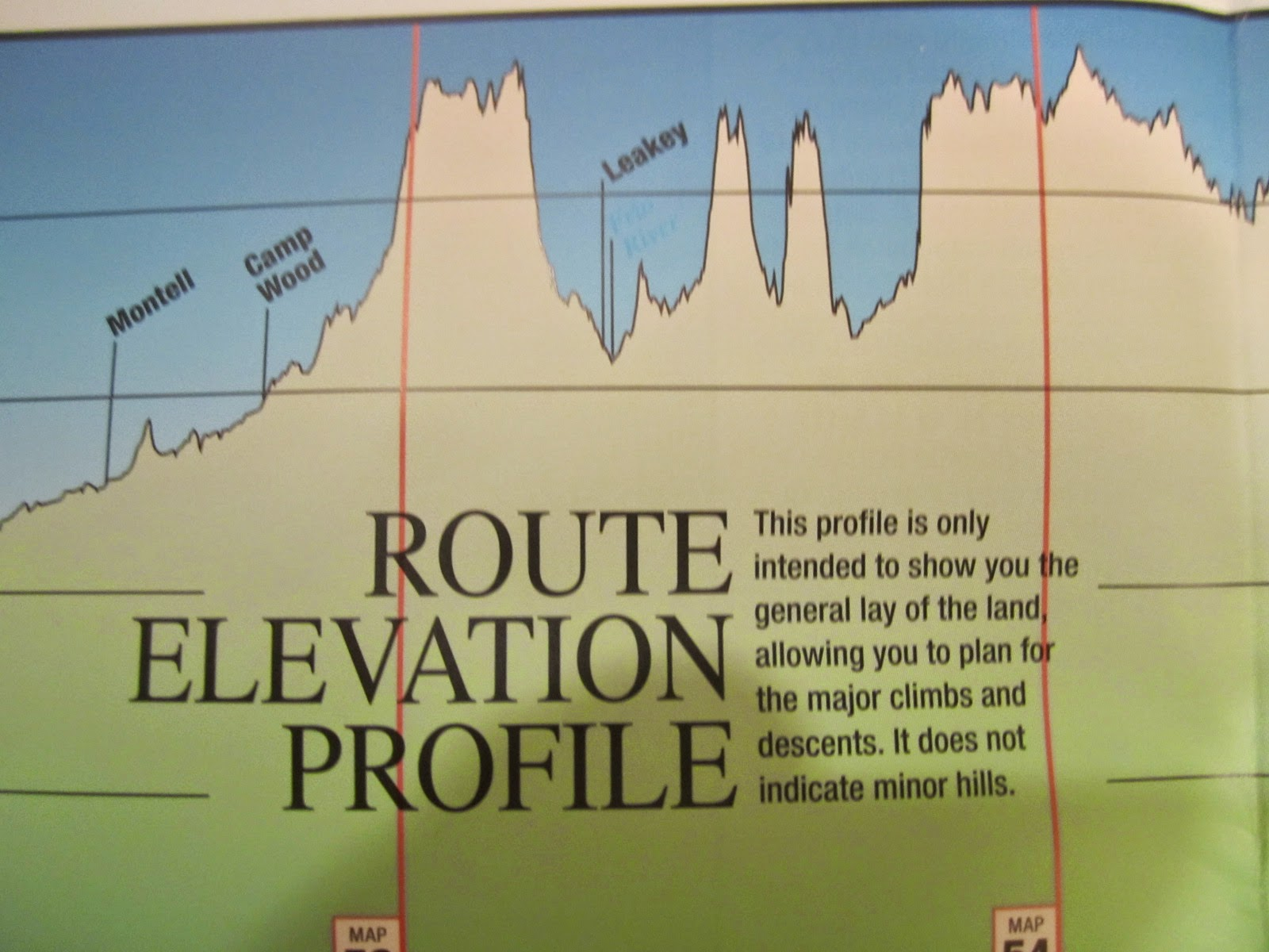 from here it branched off along minor roads into the texas hill country this is what the elevation profile looks like