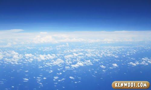 blue sky scene