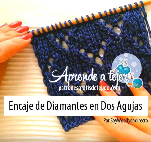 Aprende a Tejer Encaje Fácil en Dos Agujas / Tutorial | Crochet y ...