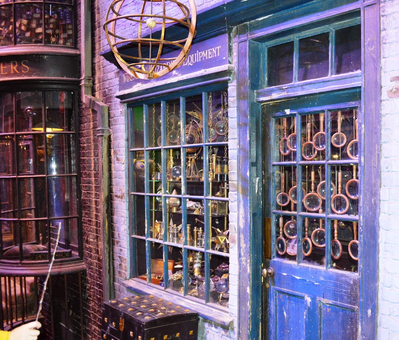 Harry Potter, Warner Brothers Studio Tour, Diagon alley, shop fronts, photographs
