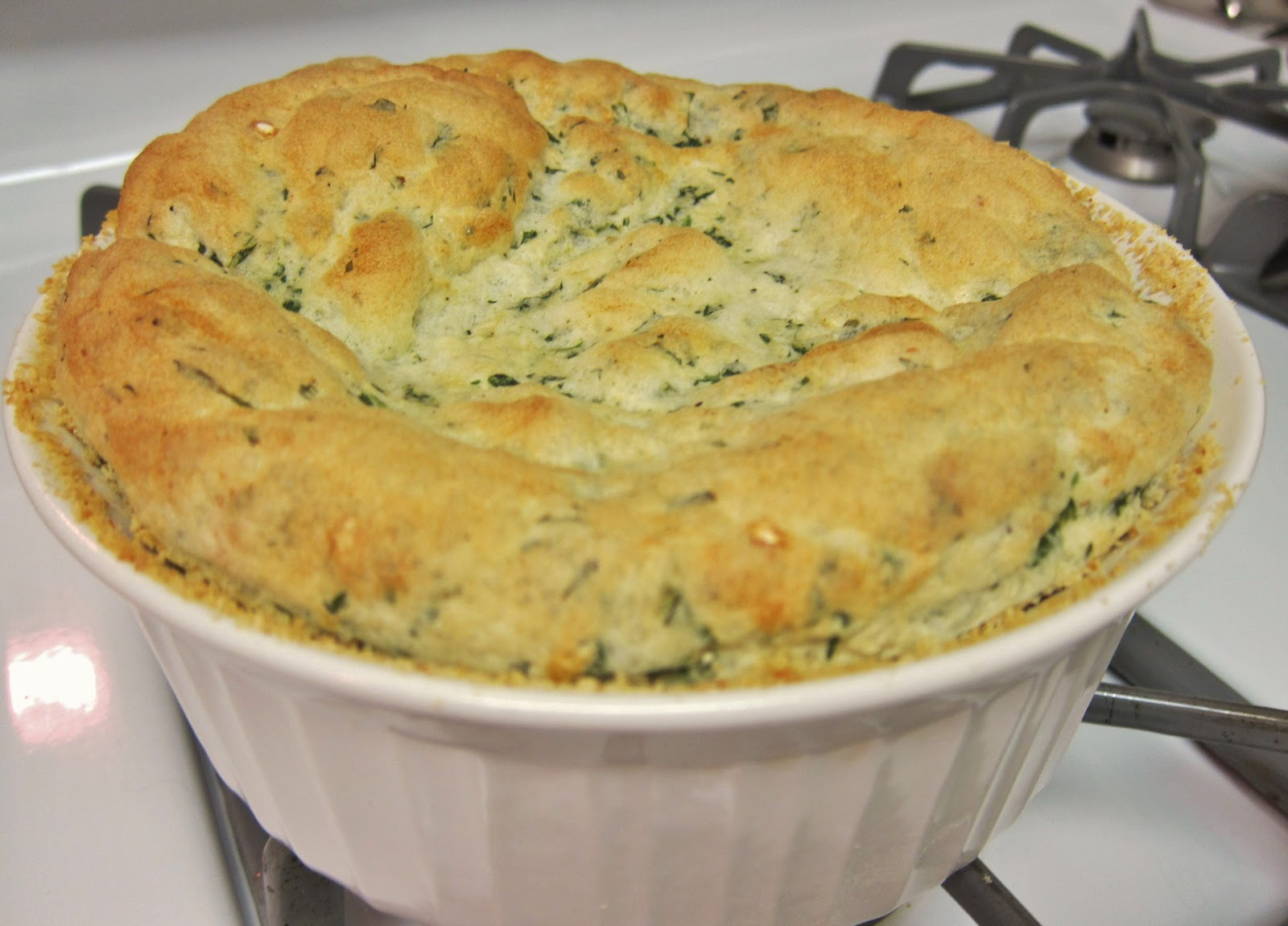 The Vegan Chronicle: Arugula and Cheese Souffle
