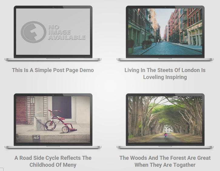 Tampilan Postingan Homepage Seperti Layar Laptop dan Tab