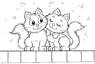 Desenhos para Colorir da Turma da Mônica - Gatinhos