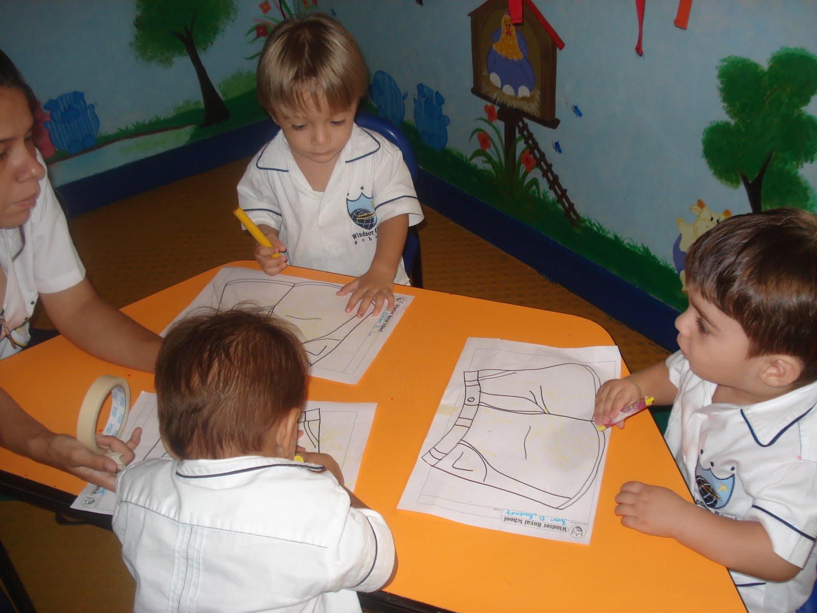 initial nursery actividades realizadas en el salon de clases