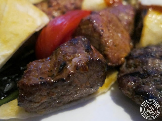 image of shish kebab at Roka Turkish Cuisine in Kew Gardens, NY