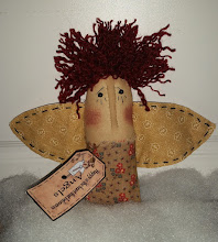 PRIMITIVE RAGGEDY ANGEL CUPBOARD TUCK